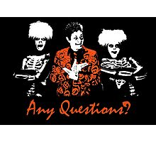 Any Questions? (David S. Pumpkin) Photographic Print