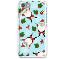 Christmas funny with candy and cute Santa Claus iPhone Case/Skin