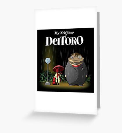 My Neightbor Del Toro Greeting Card