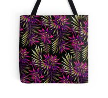 Fasciata Tropical Floral - Purple / Gold Tote Bag