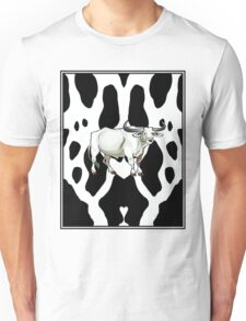 COW PATTERN: With Bull Print Unisex T-Shirt