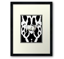 COW PATTERN: With Bull Print Framed Print