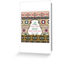 Colorful pattern in tribal style Greeting Card
