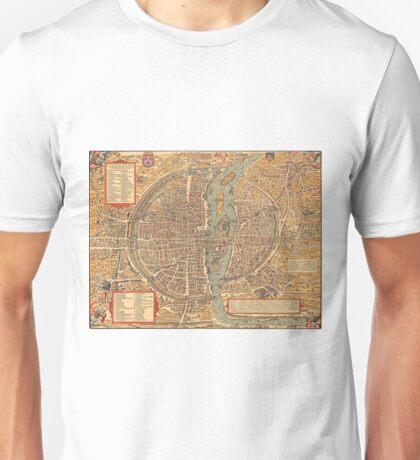 Vintage Map of Paris (1575)  Unisex T-Shirt