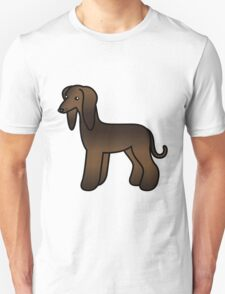Brindle Afghan Hound Cartoon Dog T-Shirt
