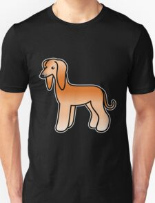 Red Afghan Hound Cartoon Dog T-Shirt