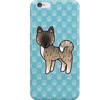Fawn Brindle Akita Dog Cartoon iPhone Case/Skin