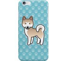 Fawn With White Mask Akita Dog Cartoon iPhone Case/Skin