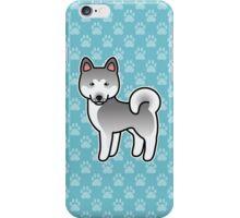 Silver Akita Dog Cartoon iPhone Case/Skin