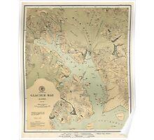 Map of Glacier Bay 1899 Poster