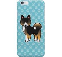 Tricolor Akita Dog Cartoon iPhone Case/Skin
