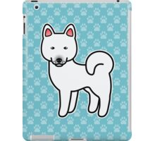 White Akita Dog Cartoon iPad Case/Skin