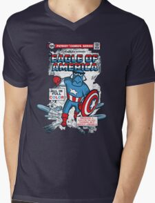 Eagle of America Mens V-Neck T-Shirt