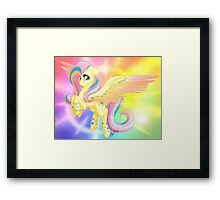 Rainbow Power Fluttershy Framed Print