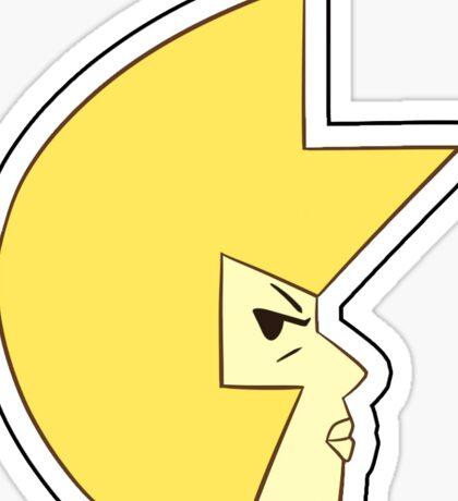 Yellow Diamond Point Sticker