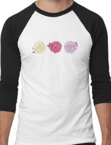 Decorative Roses Men's Baseball ¾ T-Shirt