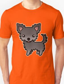 Blue Long Coat Chihuahua Cartoon Dog T-Shirt