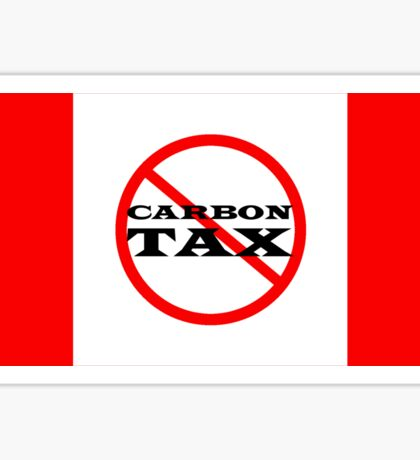 Canada Flag Protest Trudeau Carbon Tax Sticker