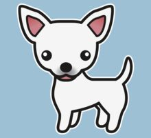 White Smooth Coat Chihuahua Cartoon Dog Kids Clothes