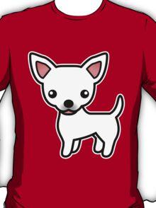 White Smooth Coat Chihuahua Cartoon Dog T-Shirt