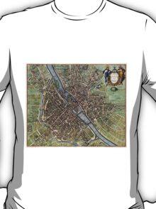 Vintage Map of Paris (1657)  T-Shirt