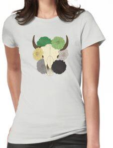 flowering aro pride cow skull T-Shirt