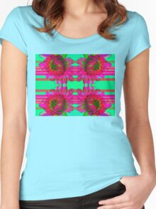 Kaleidoscopic Floral 5.0 Women's Fitted Scoop T-Shirt