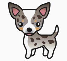 Chocolate Merle Smooth Coat Chihuahua Cartoon Dog by destei