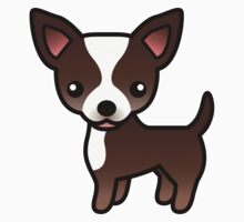 Chocolate And White Smooth Coat Chihuahua Cartoon Dog Kids Clothes