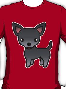 Blue Smooth Coat Chihuahua Cartoon Dog T-Shirt