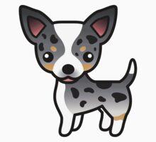 Blue Merle Smooth Coat Chihuahua Cartoon Dog by destei
