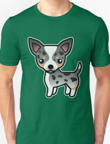 Blue Merle Smooth Coat Chihuahua Cartoon Dog T-Shirt