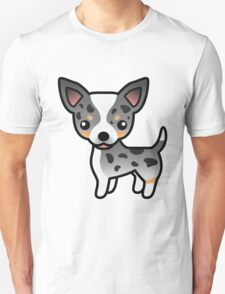 Blue Merle Smooth Coat Chihuahua Cartoon Dog T-Shirt