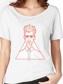 Brendon Urie Black and Red Women's Relaxed Fit T-Shirt