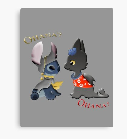 Toothless and Stitch Canvas Print