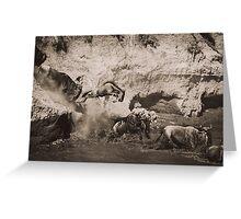 Follow the Leaders - Masai Mara, Kenya Greeting Card