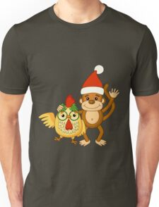 Funny cartoon monkey with cute cock. Unisex T-Shirt