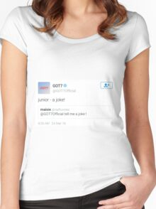 ICONIC TWEETS - GOT7 JINYOUNG Women's Fitted Scoop T-Shirt