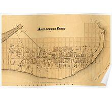 Map of Atlantic City 1877 Poster