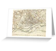Vintage Map of Warsaw Poland (1831)  Greeting Card