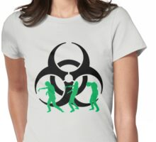 Warning! Zombies! Womens Fitted T-Shirt