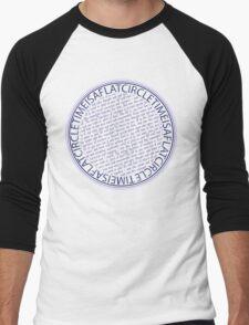 time is a flat circle Men's Baseball ¾ T-Shirt