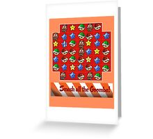 Smash all the goomba! Greeting Card