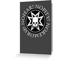 Black Templars - Warhammer Greeting Card