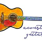 Acoustic Guitar by evisionarts