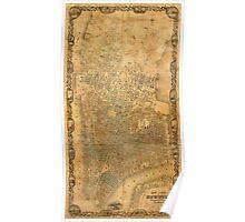 Map of Manhattan 1852 Poster