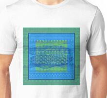 Pattern in Green and Blue Unisex T-Shirt