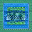 Pattern in Green and Blue by Dana Roper