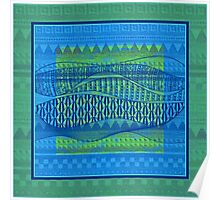 Pattern in Green and Blue Poster