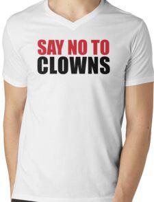 SAY NO TO CLOWNS Mens V-Neck T-Shirt